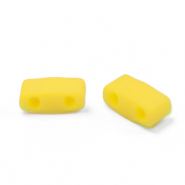 Perline Miyuki tila metà 5x2.3mm Opaque matte canary yellow HTL-2311