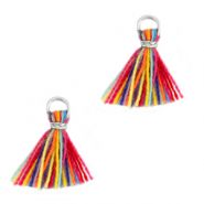 Nappine 1cm argento-multicolore