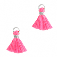 Nappine 1cm argento-rosa shocking