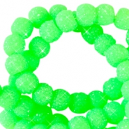 Perline scintillante 6 mm verde neon
