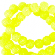 Perline scintillante 8 mm giallo neon