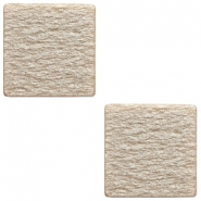 Cabochon Polaris Elements 12 mm piatto e quadrato Soft tone lucido grigio beige