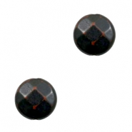 Perline in acrilico DQ sfaccettate 14 mm tonda marrone scuro - nero