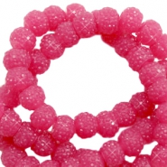 Perline scintillante 8 mm fucsia vintage